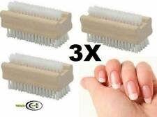 3 HIGH QUALITY WOODEN NAIL BRUSH FOR MANICURE/PEDICURE/SCRUBBING/CLEANING/BRISTL