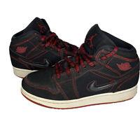 Nike Air Jordan 1 Mid Fearless GS Bred Red Black CU6617-062 Size 4.5 Y Sneakers