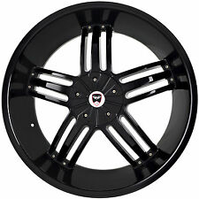 4 GWG Wheels 22 inch Black SPADE Rims fits FORD EXPEDITION 2WD 2000 - 2002