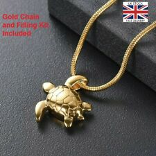 Turtle Keepsake Heart Cremation Urn Pendant Ashes Necklace Funeral Memorial