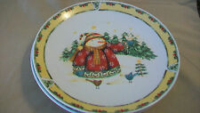 Snowman in Sweater Dinner Plate by Debbie Hron from Gibson, 2003 Pattern