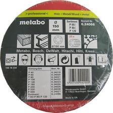 Metabo 624066000 150mm Random Orbit Sander Abrasive - Pack of 25 Assorted Sheets