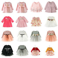 Flower Autumn Baby Girls Clothes Dress Kids Girl Clothing Skirt Infant Dress LOT