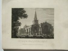S E view of the Church of St Paul, Bedford  (published Jan.1,1803)