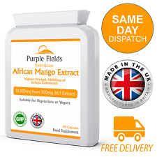African Mango Extract 18000mg Highest Strength 60 Capsules Irvingia Gabonensis