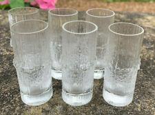 "Iittala Crystal Finland Tapio Wirkkala ""Niva"" Drinks Set Six 6 x Shot Glasses"