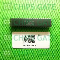 2PCS MC6821CP Encapsulation:DIP-40,PERIPHERAL INTERFACE ADAPTER