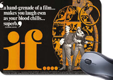 If Movie Poster Mouse Mat. Lindsay Anderson Film Mouse Pad. Malcolm McDowell