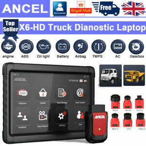 All System HGV Truck Advanced Diagnostic Tablet Tool ABS SRS DPF OIL ANCEL X6