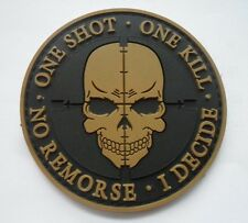 ONE SHOT Skull Patches ARMY MORALE TACTICAL MORALE BADGE PATCH