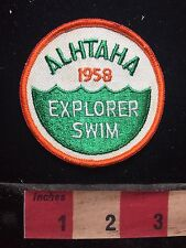 Vintage 1958 ALHTAHA EXPLORER SWIM Boy Scout Patch 76Y7