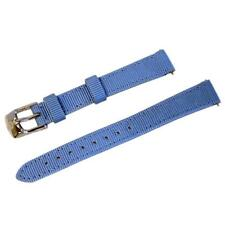 NEW Michele 12mm Sky Blue Nylon Watch Band Strap (without tags)