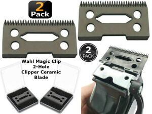 Wahl Magic Clip 2 Hole Clipper ceramic cutter blade 2pcs Black Ceramic Blades