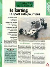 Karting Sport Automobile Mini Bolide Kart racing USA Car Auto FICHE FRANCE