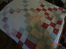 """Lovely Vintage Cottage Quilt/ 73""""x70""""/Great for porch swing!"""