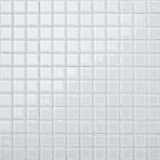 Mosaic Glass Wall Tiles Ice White Bathroom Bath Splashback Border GTR10079