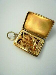 Antique French Gold Vinaigrette Case Box