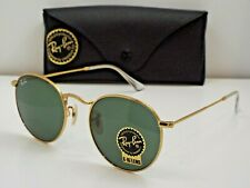 b61643c4d Authentic Ray-Ban RB 3447 001 Gold Green Classic Round 50 mm Sunglasses $190