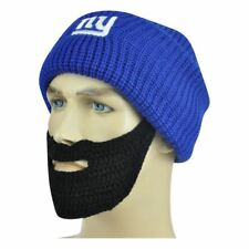 ae1cbab9e6b NFL NY New York Giants Detachable Remove Beard Knit Beanie Cuffed Crochet  Hat