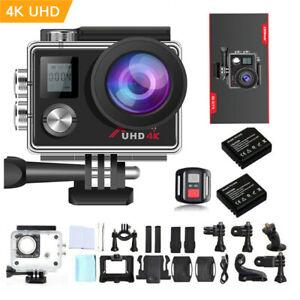 Campark Action Cam 4K Sports Camera WiFi Helmkamera Wasserdichte 170° Weitwinkel