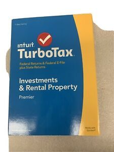 2014 Intuit Turbotax software Investments and Rental Property