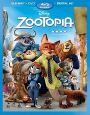 Disney Animation Studios Zootopia Blu-ray DVD and Digital Copy with Slipcover