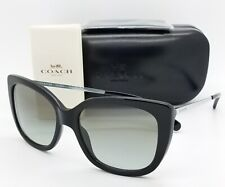 New Coach sunglasses HC8246 500211 55mm Black Silver Gradient Butterfly Cat 8246