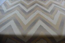 grey beige cream upholstery fabric chevron caravan sofa chair robust CLEARANCE
