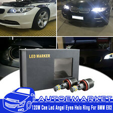 2Pcs 240W Total CREE H8 LED Angel Eyes Halo Ring Light Bulbs HID 6000K For BMW