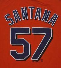 T-SHIRT M MEDIUM JOHAN SANTANA #57 NEW YORK METS BASEBALL SHIRT