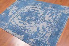 "4'8"" x 6'6"" Handmade Traditional Oriental Area rug Gray"