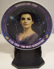 Star Trek The Next Generation Counselor Troi Miniature Porcelain Plate w Stand