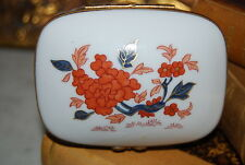 Superb Porcelain De Paris Flower Decorated Square Mounted Cabinet Or Table Box 2