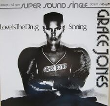 Grace Jones Love Is The Drug , Sinning German 12""