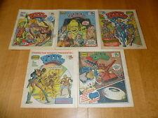 2000 AD Comic - 5 PROG JOB LOT - Progs 185 too 189 Inclusive - UK Paper Comic