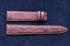Cinturino Blancpain originale in pelle di struzzo rosso nuovo