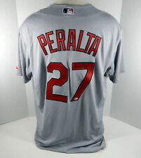 St. Louis Cardinals Johnny Peralta #27 Game Issued Signed Grey Jersey