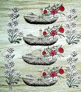 New: 8 x Carnation Crafts : Basket & Flowers Die Cuts