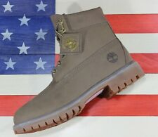 "Timberland 6"" Classic Premium Boot SAMPLE Dark Beige Nubuck Leather A1UFS Mens 9"