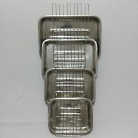 ROASTING TRAY OVEN PAN DISH BAKING ROASTER TIN WITH GRILL SMALL,MEDIUM,LARGE,X-L