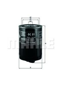 Engine Oil Filter-Eng Code: CR Mahle OC 51