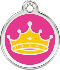 Queen Enamel/Solid Stainless Steel Engraved ID Dog/Cat Tag