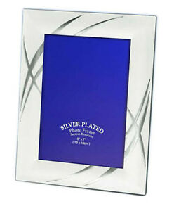 """Two Tone Silver Photo Picture Frame 4x6"""", 5x7"""", 6x8"""" & 8x10"""" Inches"""