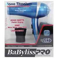 BABYLISS PRO NANO TITANIUM IONIC LIGHTWEIGHT 2000 WATTS HAIR DRYER HAIR BLOWER