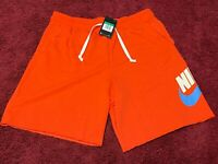 *NEW* Nike Men's NSW Loose Fit Alumni Team Orange Shorts AR2375-891