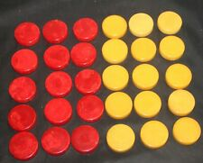 30 Vintage Cherry Red & Butterscotch Swirled Backgammon/Checkers Pieces