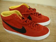 NIKE Men's Bruin Mid Suede TRAINERS Red Yellow Basketball Sneaker Shoes Size 9