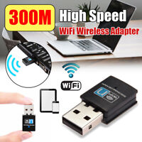 300Mbps USB Wireless Wifi Adapter PC Laptop Dongle 802.11n/g/b LAN Connector