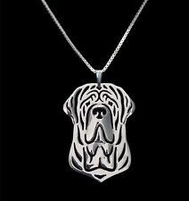 Mastiff Pendant Necklace Silver ANIMAL RESCUE DONATION