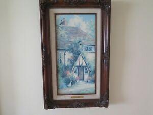 Marty Bell Canvas Artwork 18 of 900 Cottage Goose Framed Lot RG1607